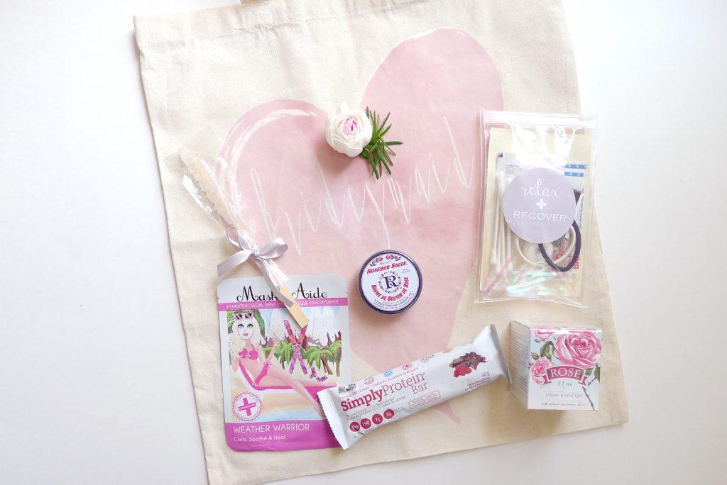 Bridesmaid's wedding kit
