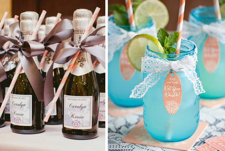 wedding favor drinks