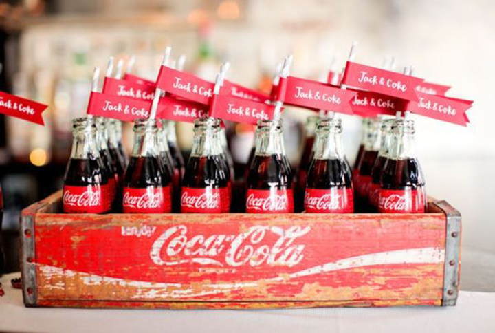 Pop cola wedding favors