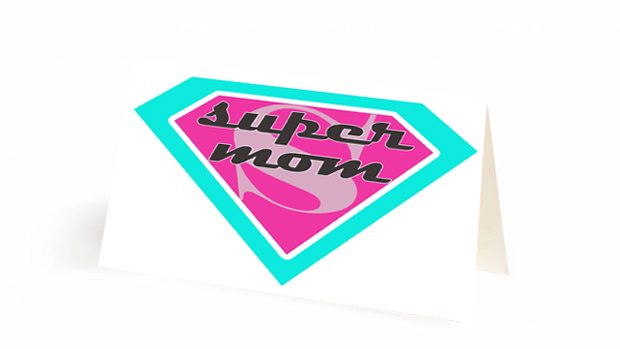 Downloadable label Supermom