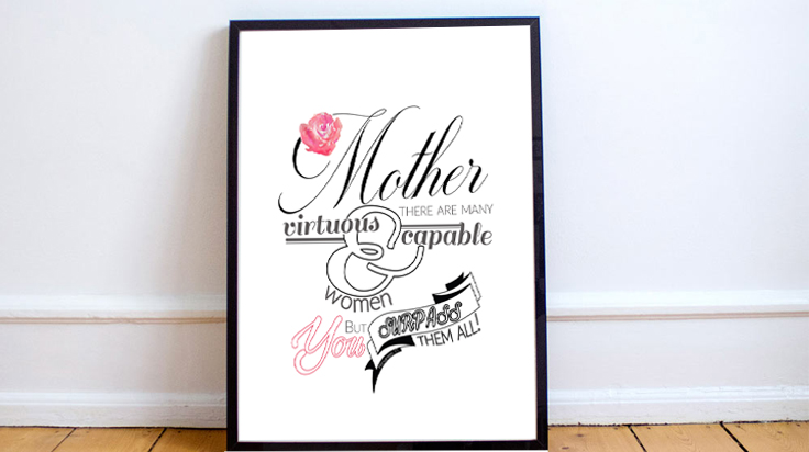 Downloadable print Proverbs 31 Mother
