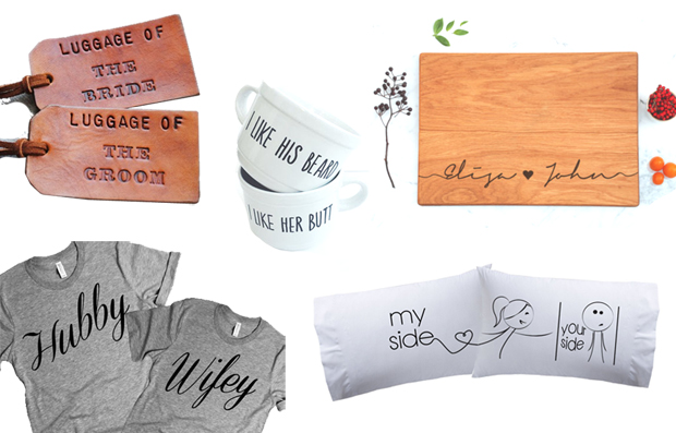 his and hers personalized wedding gifts