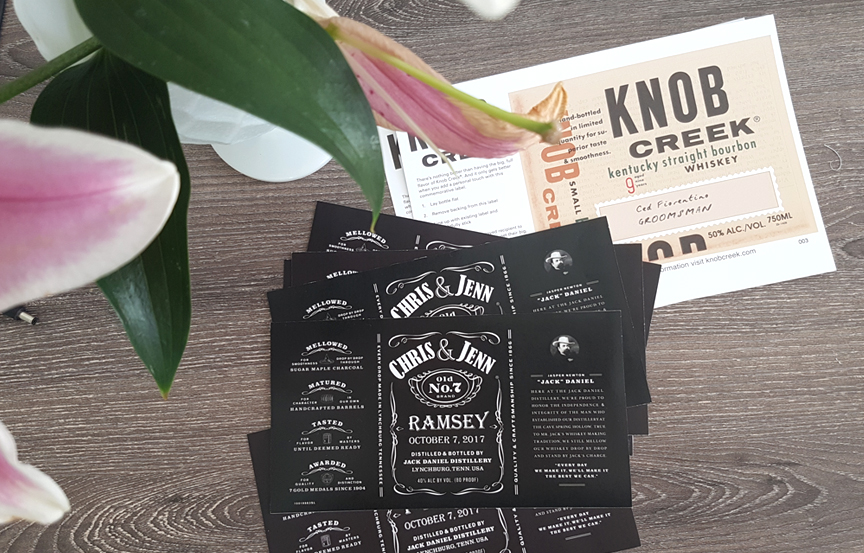Jack Daniel whiskey custom labels