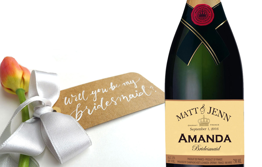 Personalized Moet label