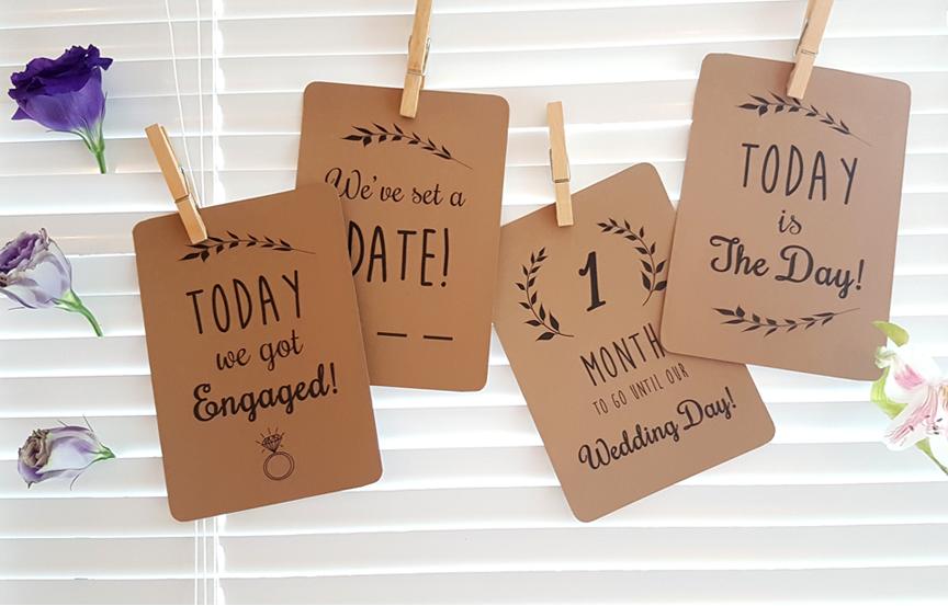 Personalized Wedding Milestone Cards