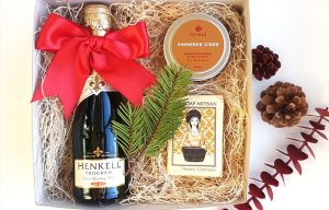 Christmas gift idea sparkling wine