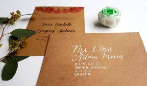 kraft envelopes wedding