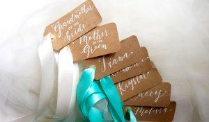 wedding calligraphy tags