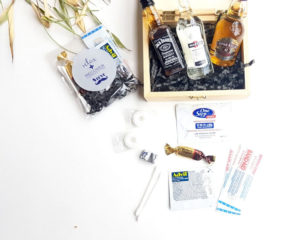 groomsmen hangover kit favours