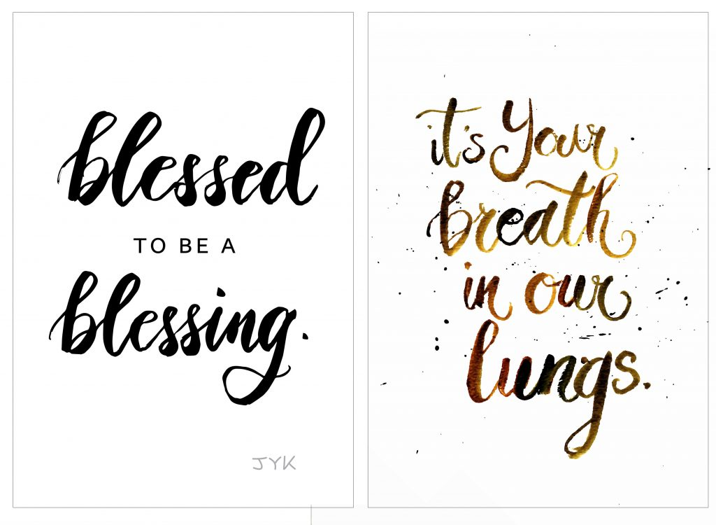 Brush Calligraphy Watercolor Art