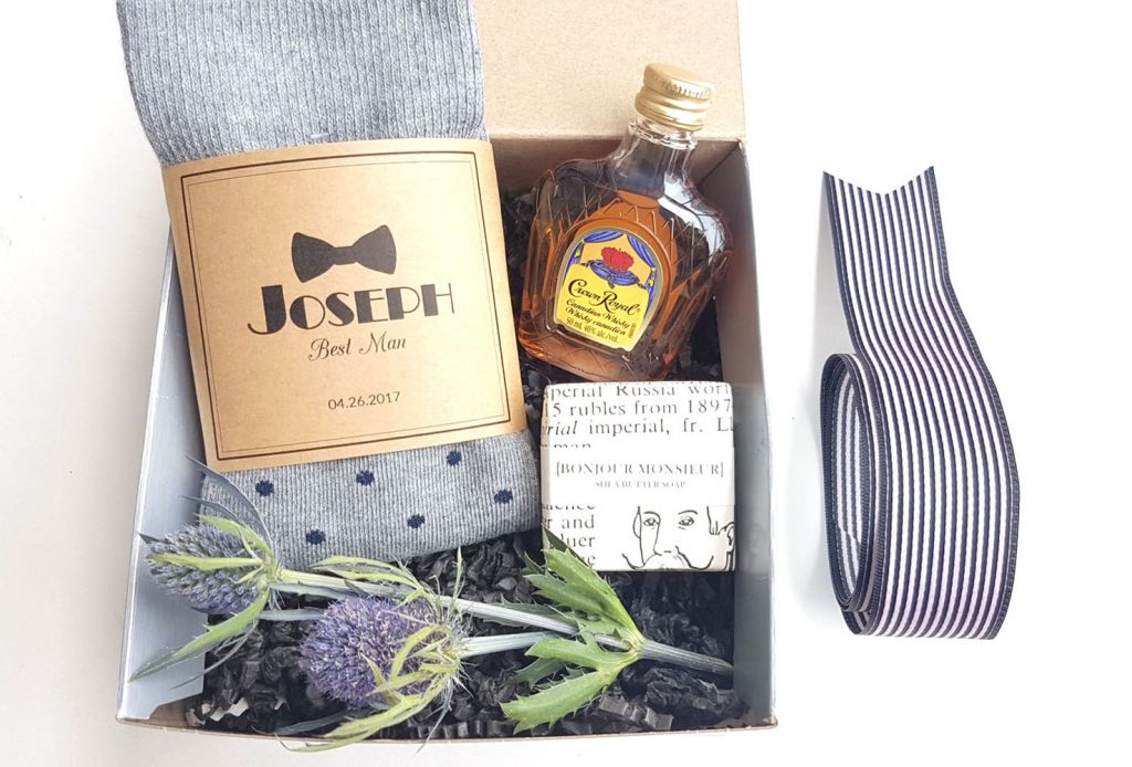 best man personalized socks whisky