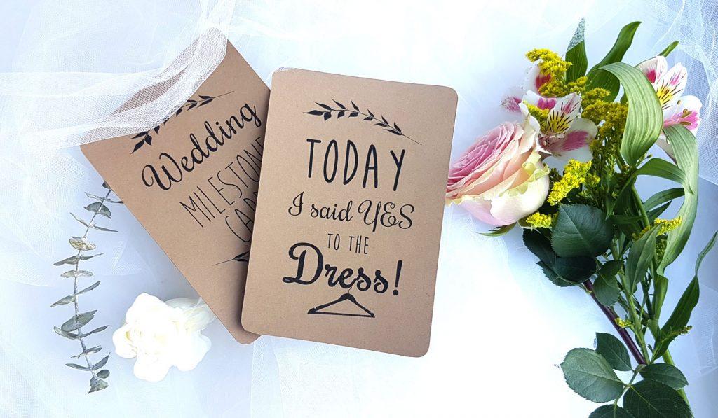 wedding milestone flashcards
