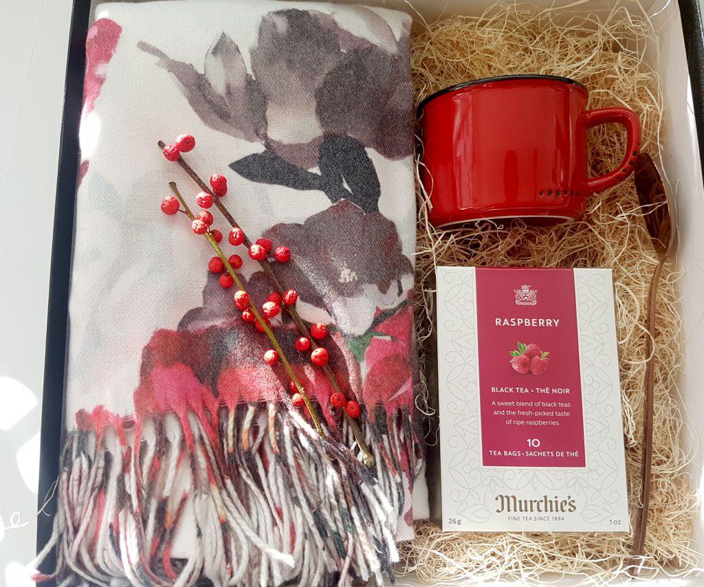 Scarf and Tea Gift Box Set Christmas Present