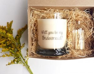 Bridesmaid Wedding Candles