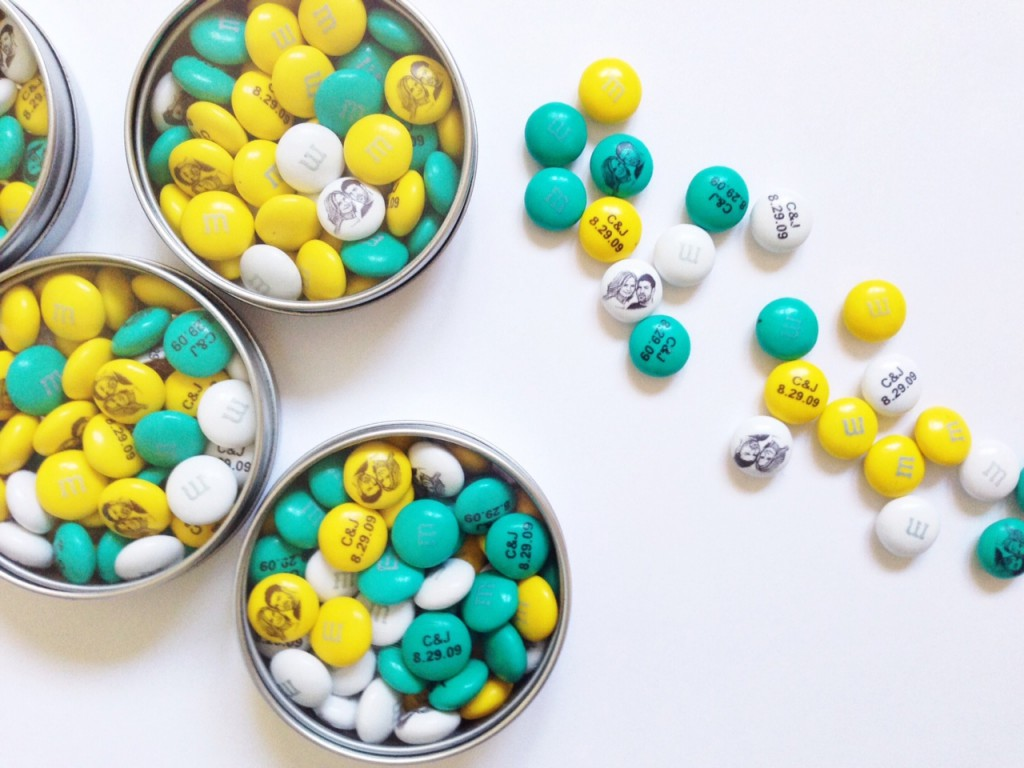 printed M&M chocolates