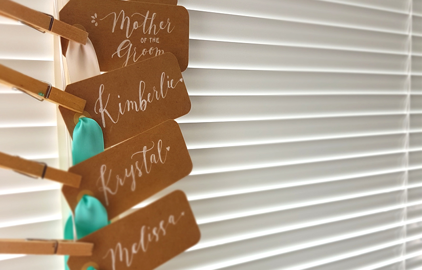 Personalized gift tags calligraphy