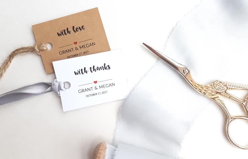wedding gift tags