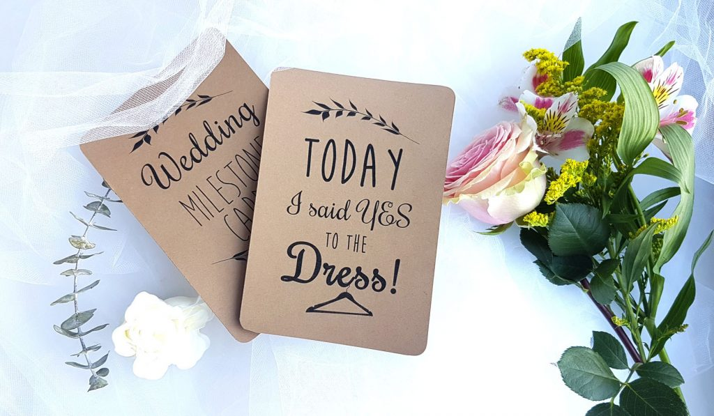 wedding milestone flashcards