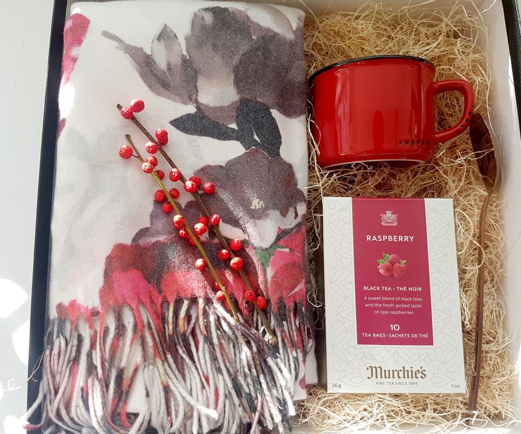 Scarf and Tea Gift Box Set Christmas Present