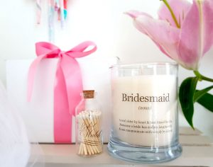 Bridesmaid Personalized Candles
