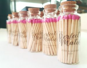 Personalized Pink Matches in Jar